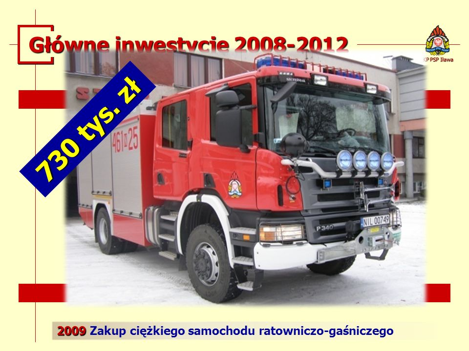 730 tys. zł Główne inwestycje 2008-2012
