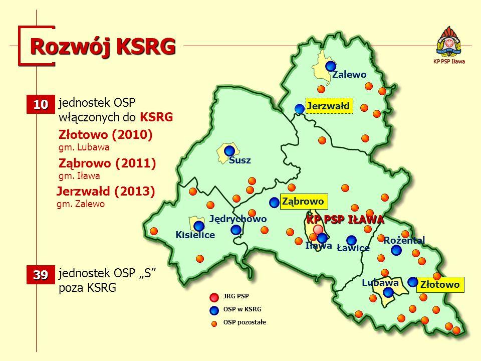 Rozwój KSRG 10 jednostek OSP włączonych do KSRG