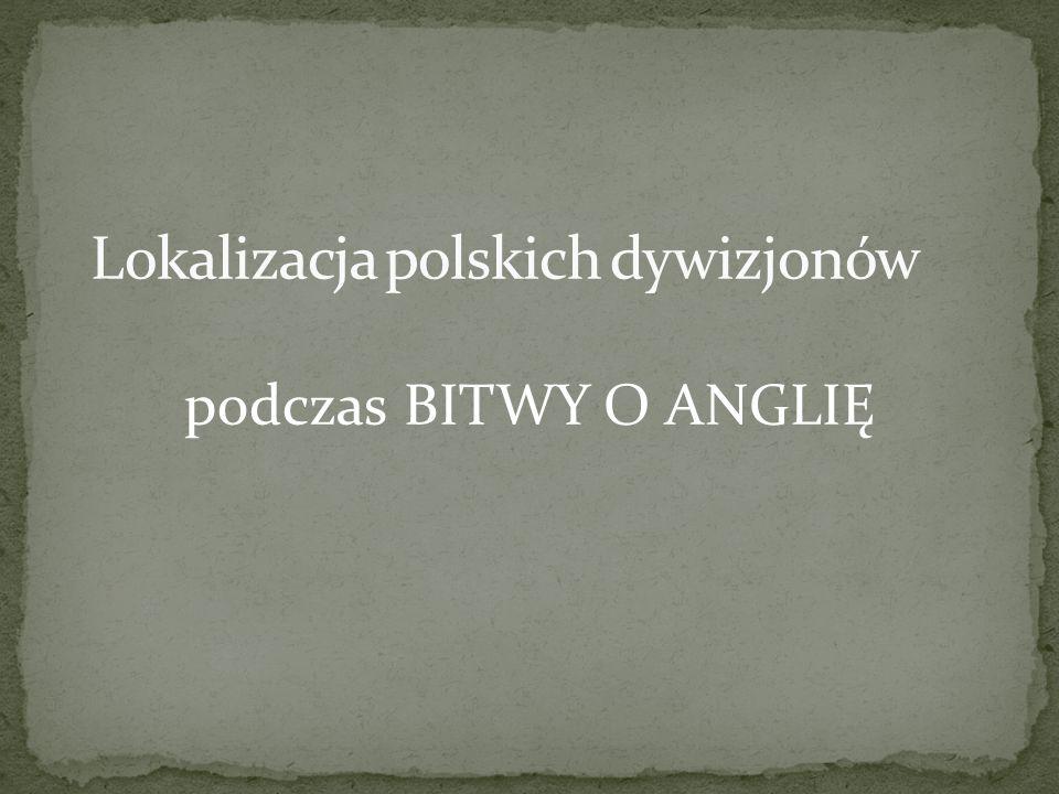 Lokalizacja polskich dywizjonów