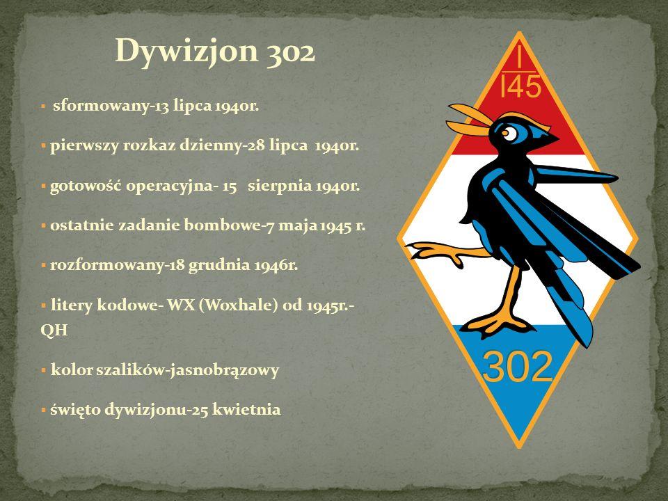 Dywizjon 302 pierwszy rozkaz dzienny-28 lipca 1940r.