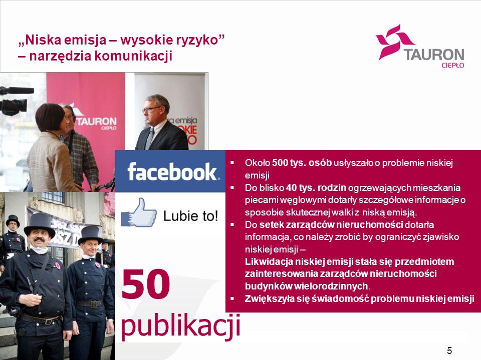 """50 publikacji """"Niska emisja – wysokie ryzyko – narzędzia komunikacji"""