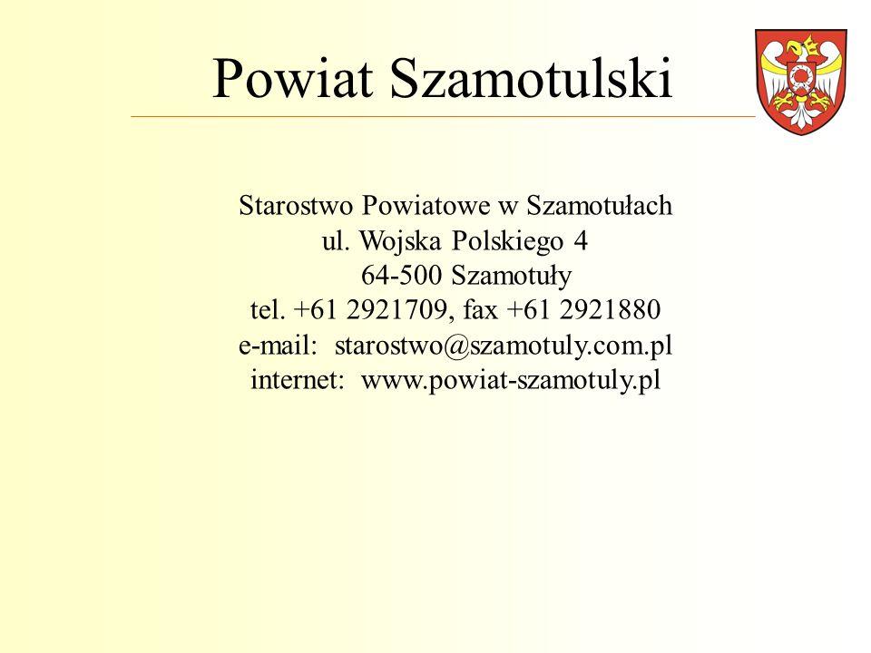 Powiat Szamotulski Starostwo Powiatowe w Szamotułach