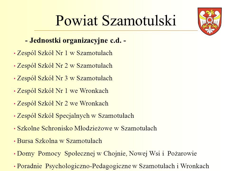 Powiat Szamotulski - Jednostki organizacyjne c.d. -