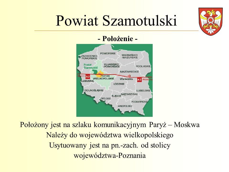 Powiat Szamotulski - Położenie -