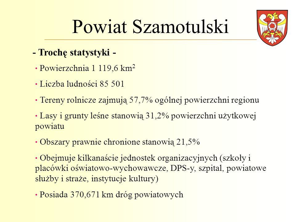 Powiat Szamotulski - Trochę statystyki - Powierzchnia 1 119,6 km2