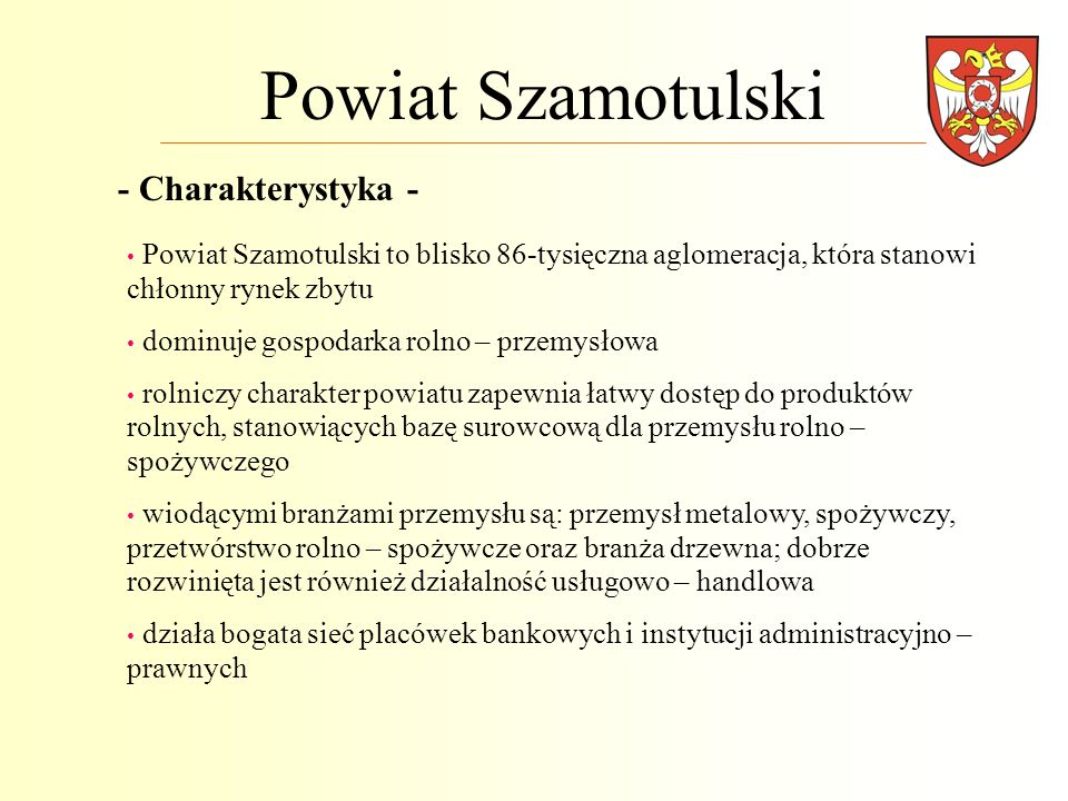 Powiat Szamotulski - Charakterystyka -