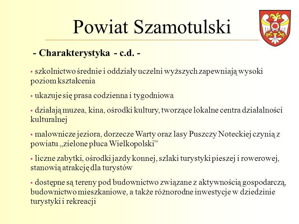 Powiat Szamotulski - Charakterystyka - c.d. -
