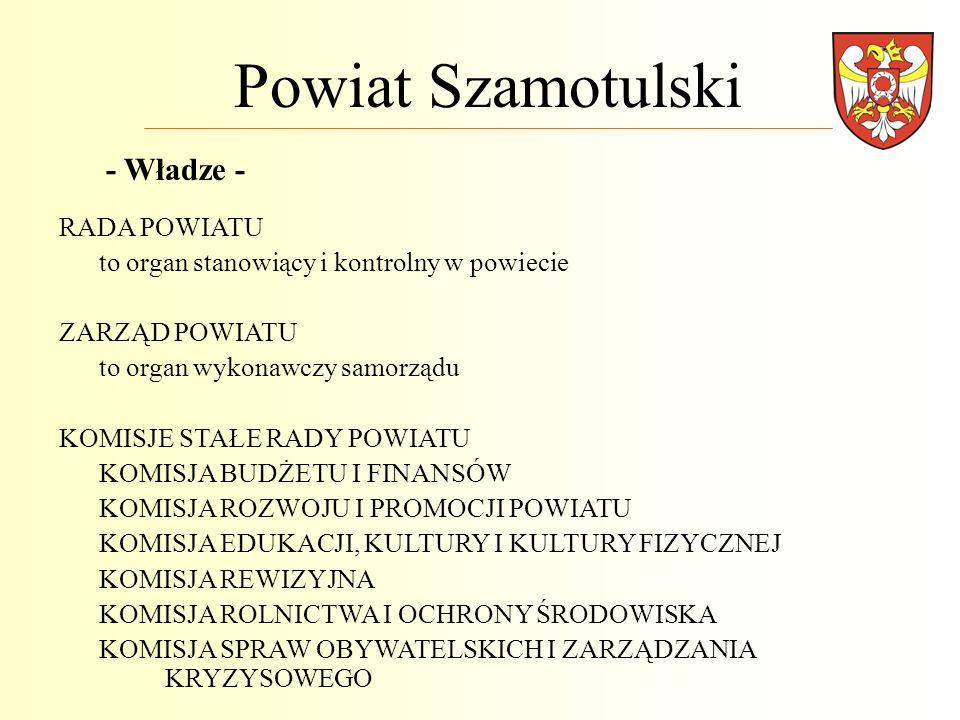 Powiat Szamotulski - Władze - RADA POWIATU