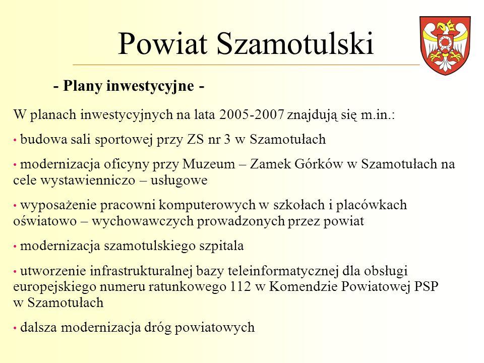 Powiat Szamotulski - Plany inwestycyjne -