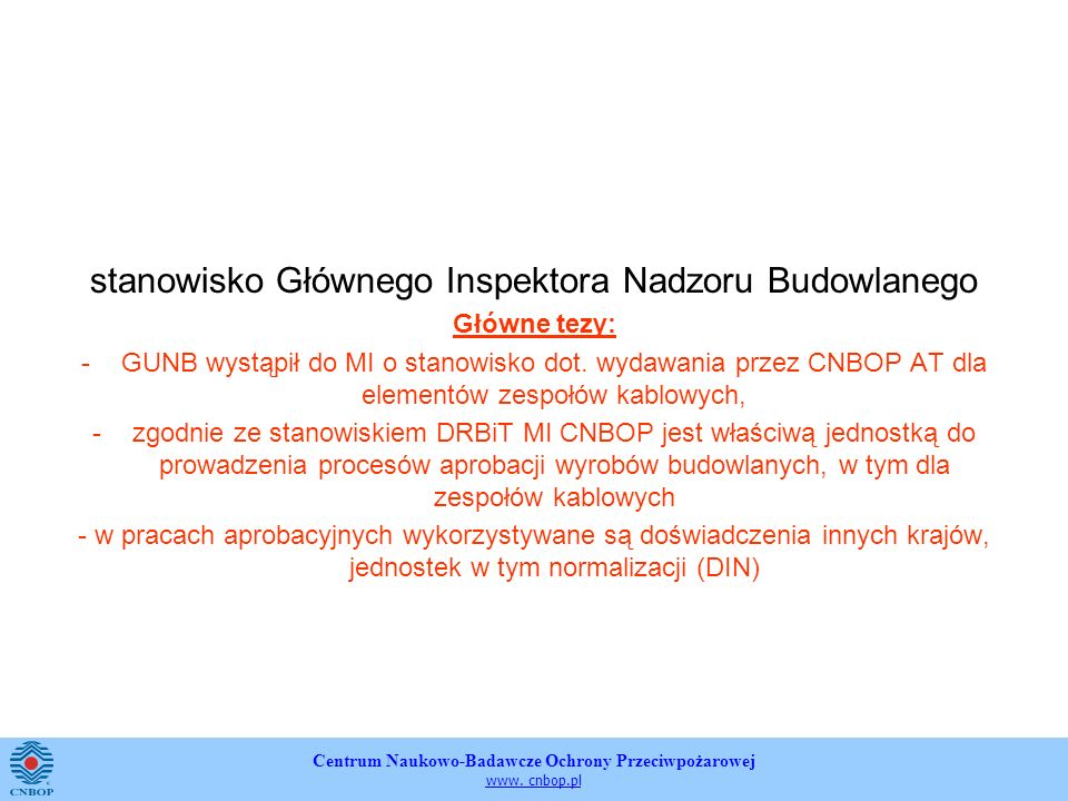 stanowisko Głównego Inspektora Nadzoru Budowlanego