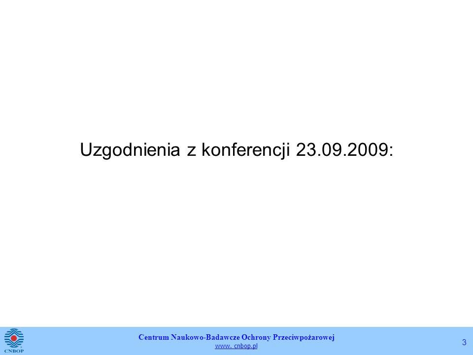 Uzgodnienia z konferencji 23.09.2009: