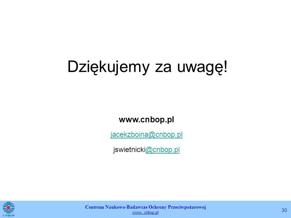 Dziękujemy za uwagę! www.cnbop.pl jacekzboina@cnbop.pl