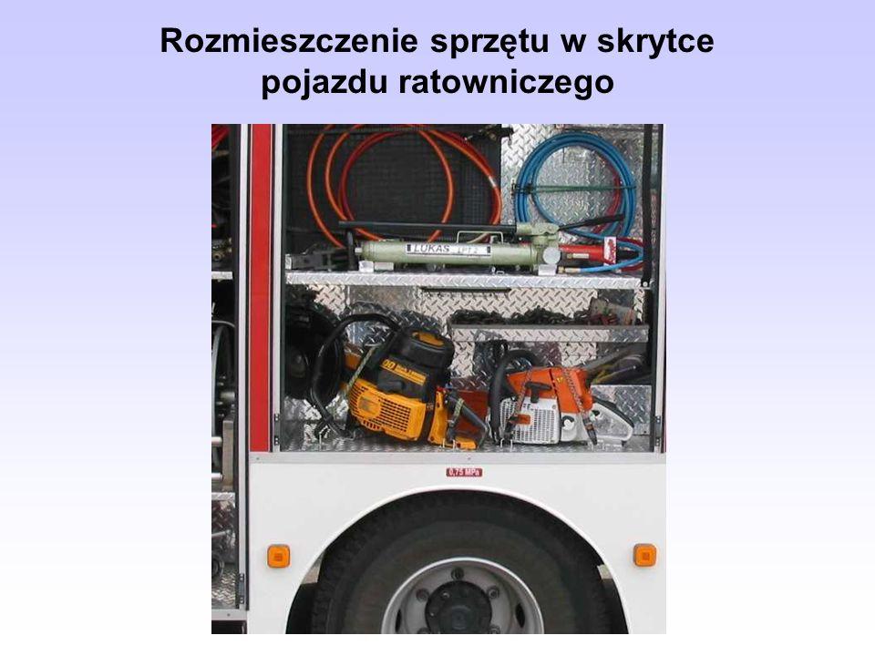 Rozmieszczenie sprzętu w skrytce pojazdu ratowniczego