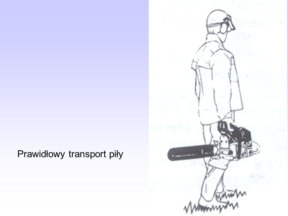 Prawidłowy transport piły