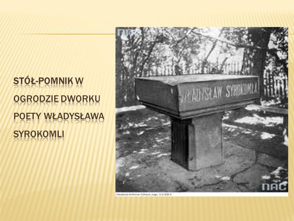 Stół-pomnik w ogrodzie dworku poety Władysława Syrokomli