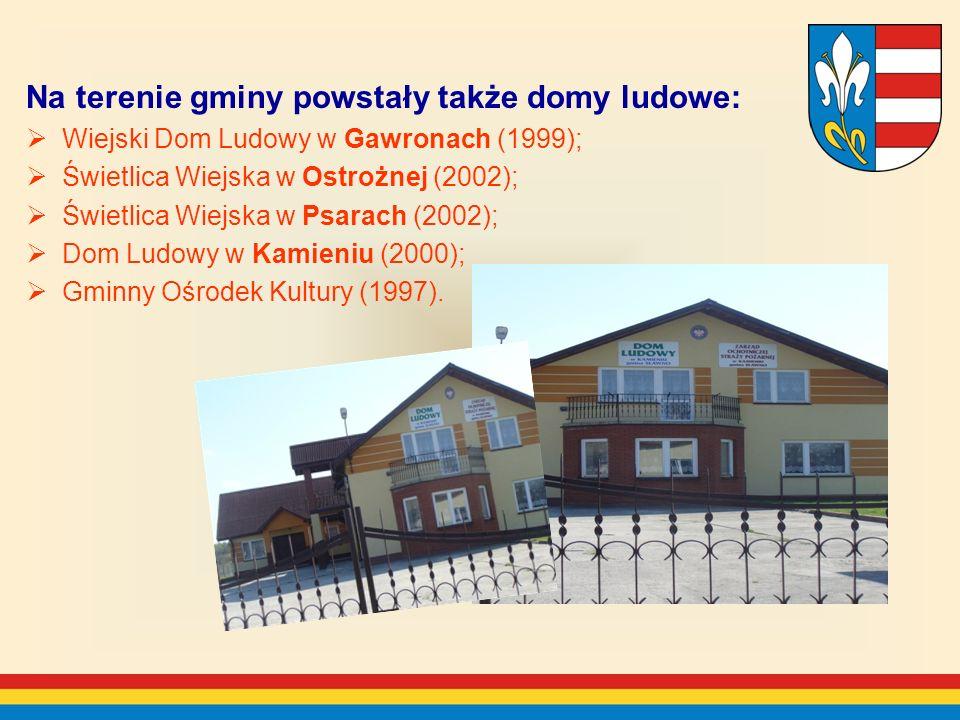 Na terenie gminy powstały także domy ludowe: