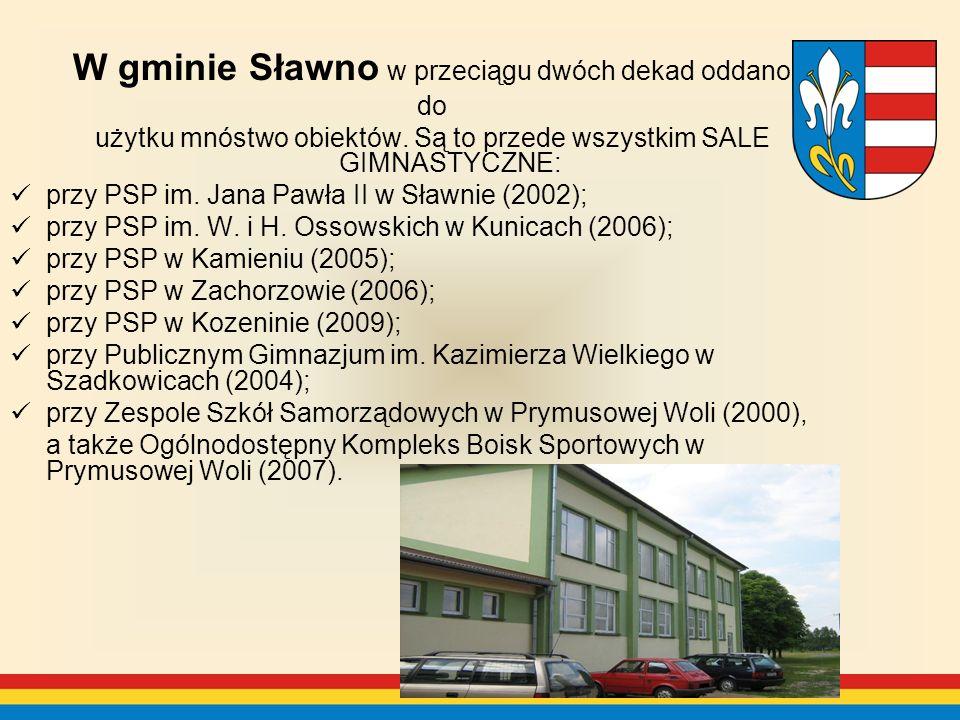 W gminie Sławno w przeciągu dwóch dekad oddano