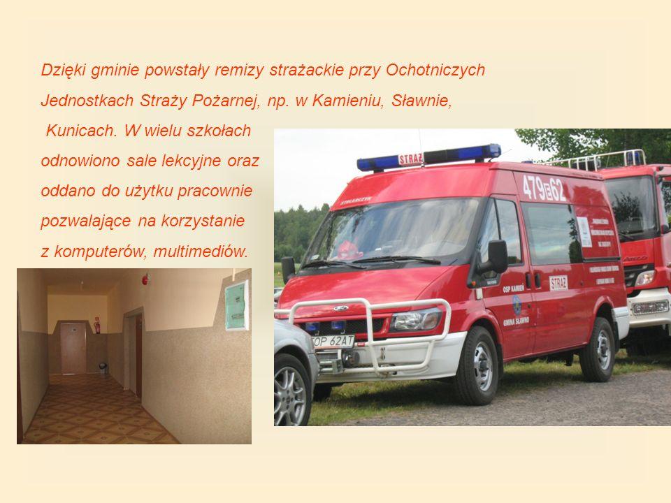 Dzięki gminie powstały remizy strażackie przy Ochotniczych