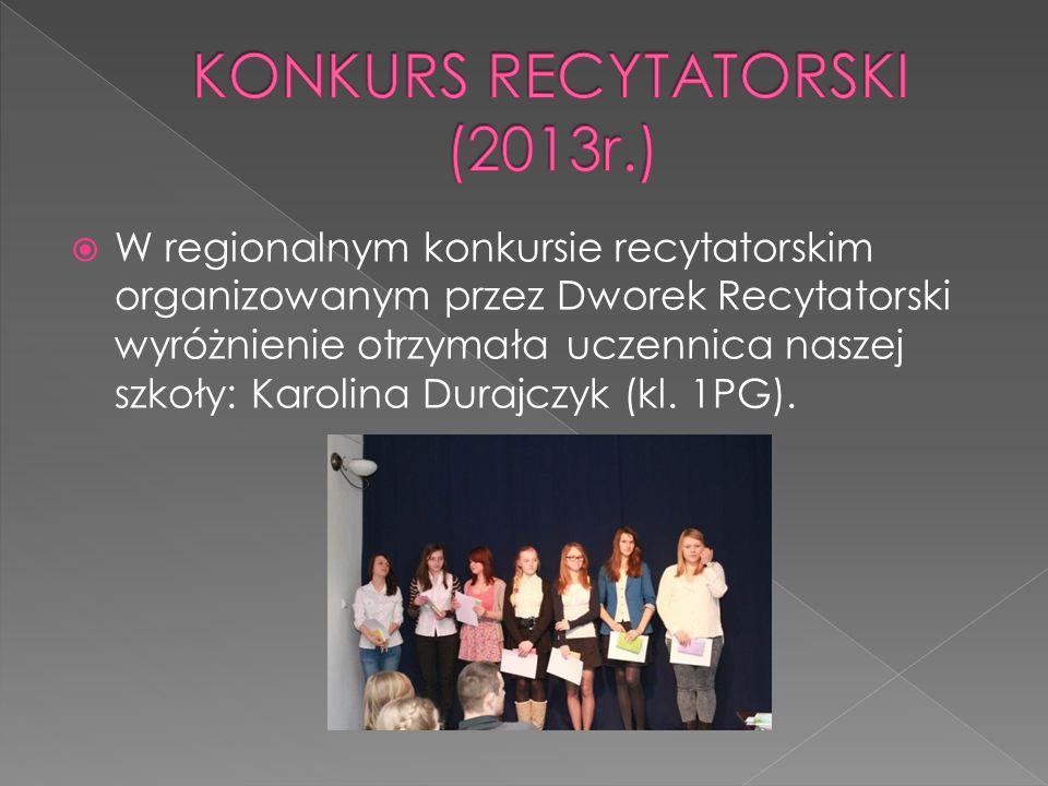 KONKURS RECYTATORSKI (2013r.)