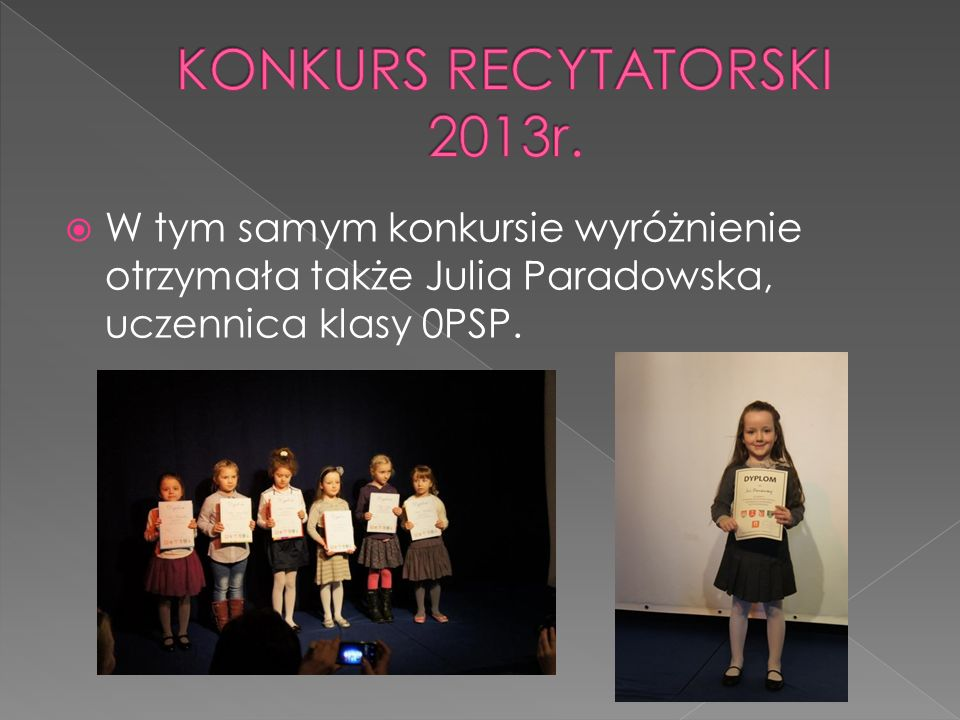 KONKURS RECYTATORSKI 2013r.
