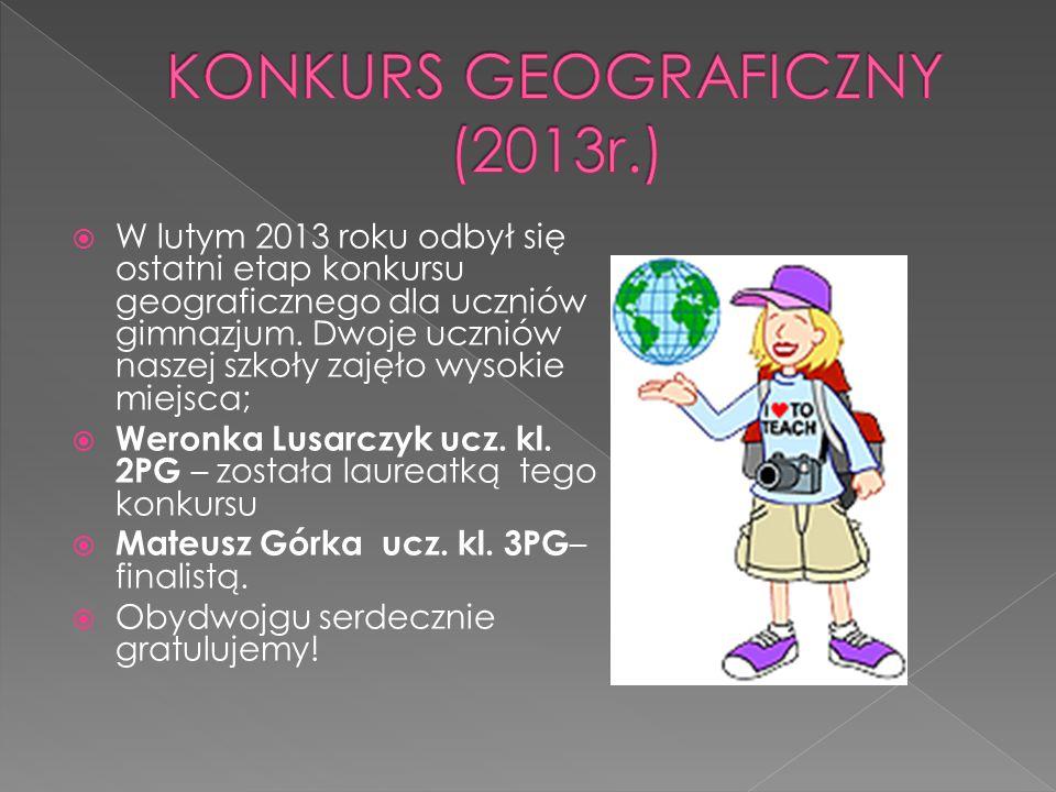 KONKURS GEOGRAFICZNY (2013r.)