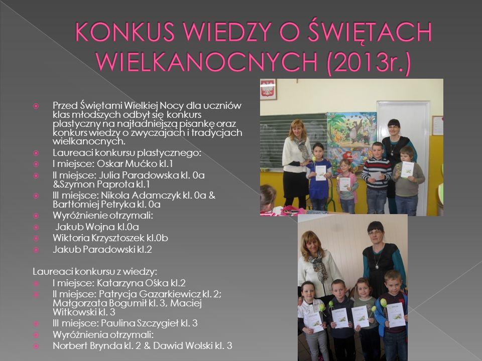 KONKUS WIEDZY O ŚWIĘTACH WIELKANOCNYCH (2013r.)