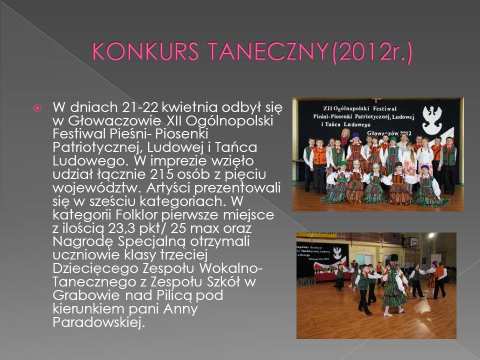 KONKURS TANECZNY(2012r.)