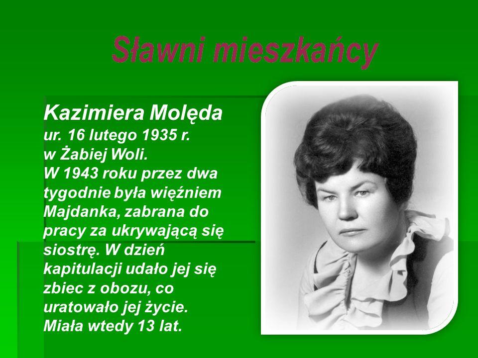Kazimiera Molęda ur. 16 lutego 1935 r. w Żabiej Woli