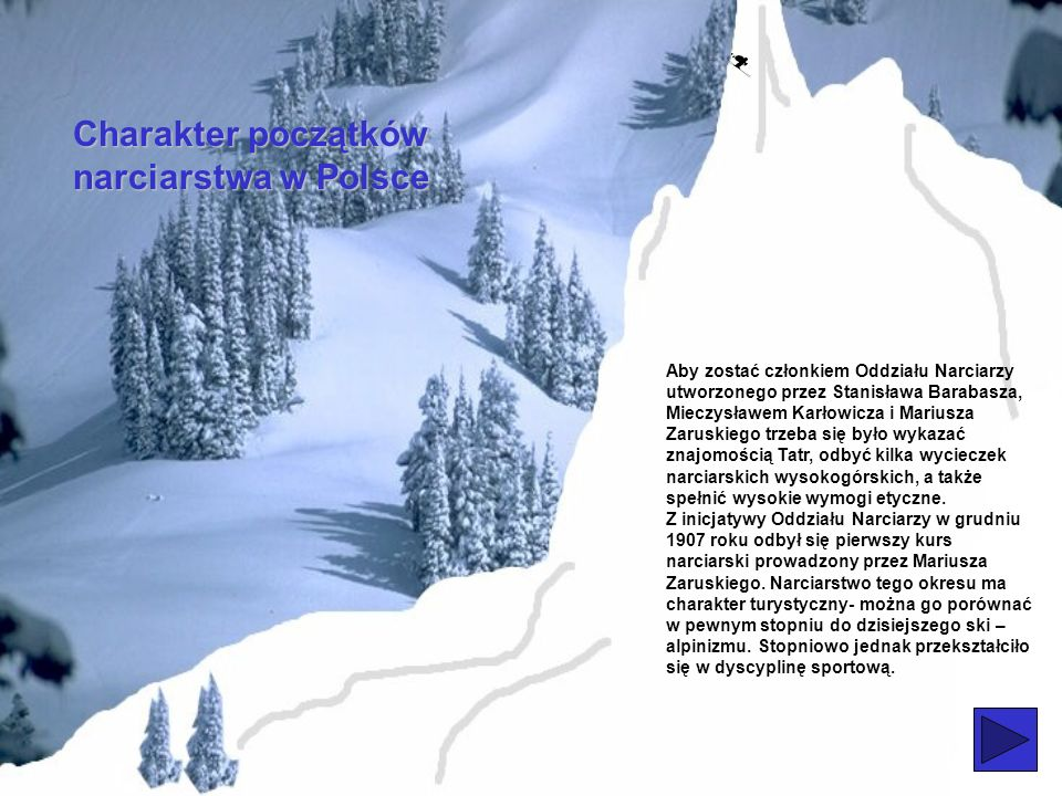 Charakter początków narciarstwa w Polsce