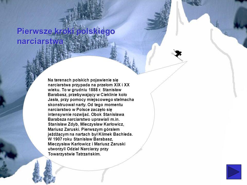 Pierwsze kroki polskiego narciarstwa