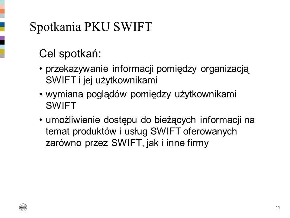 Spotkania PKU SWIFT Cel spotkań: