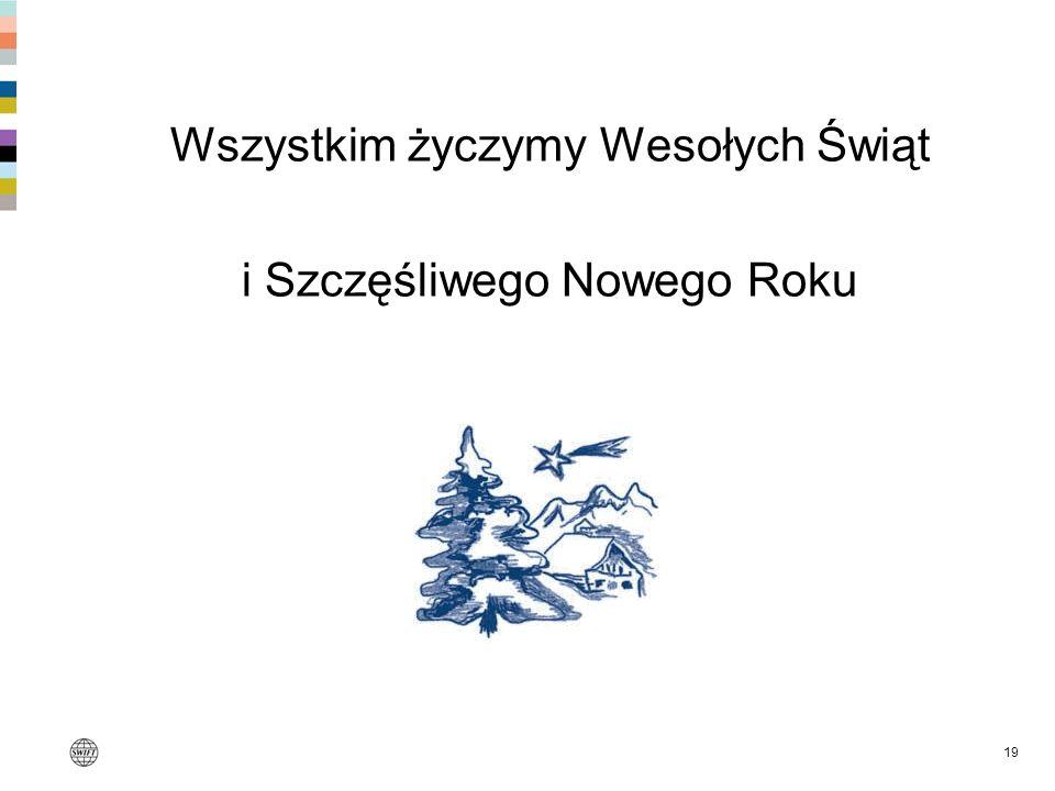 Wszystkim życzymy Wesołych Świąt i Szczęśliwego Nowego Roku