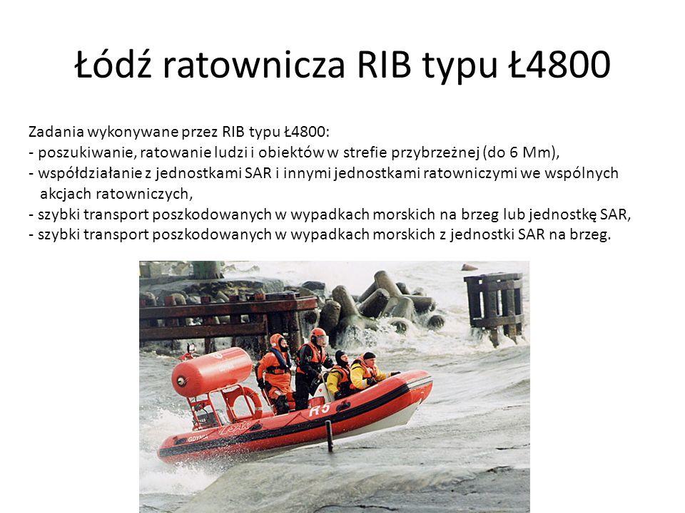 Łódź ratownicza RIB typu Ł4800
