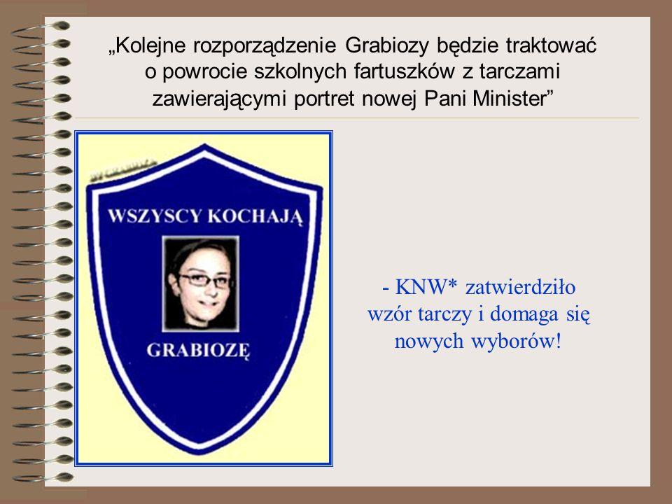 - KNW* zatwierdziło wzór tarczy i domaga się nowych wyborów!
