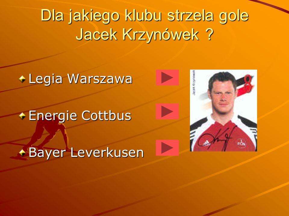 Dla jakiego klubu strzela gole Jacek Krzynówek