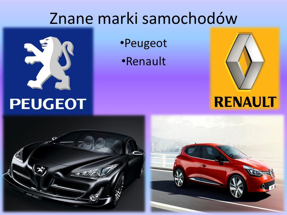 Znane marki samochodów