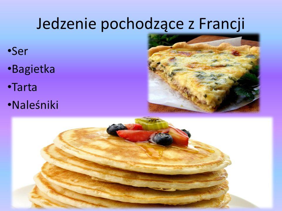 Jedzenie pochodzące z Francji