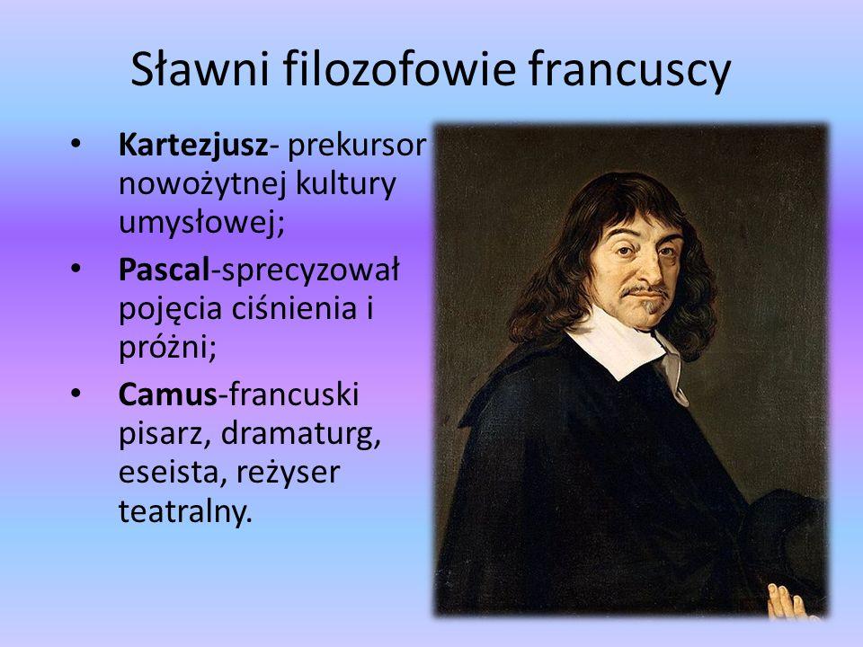 Sławni filozofowie francuscy