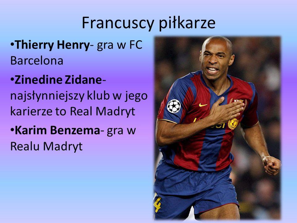 Francuscy piłkarze Thierry Henry- gra w FC Barcelona