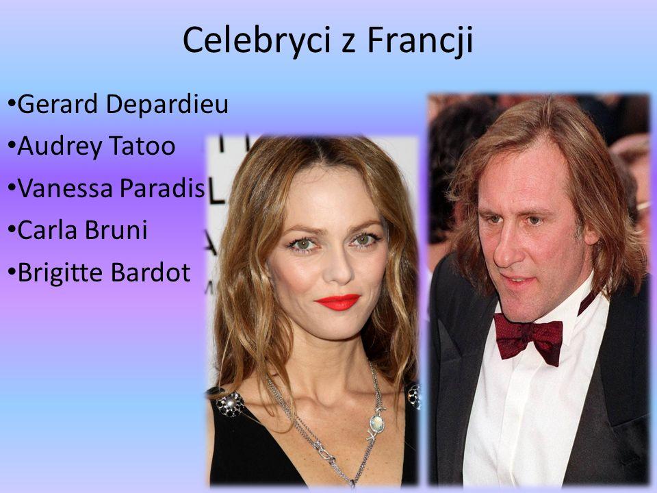 Celebryci z Francji Gerard Depardieu Audrey Tatoo Vanessa Paradis