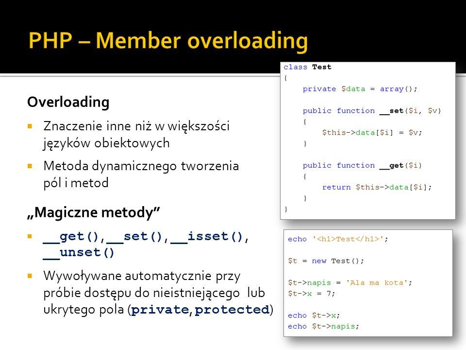 PHP – Member overloading