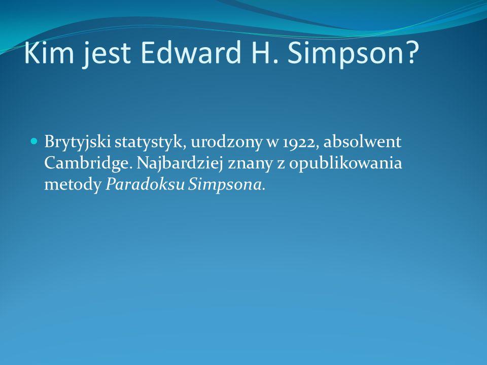 Kim jest Edward H. Simpson