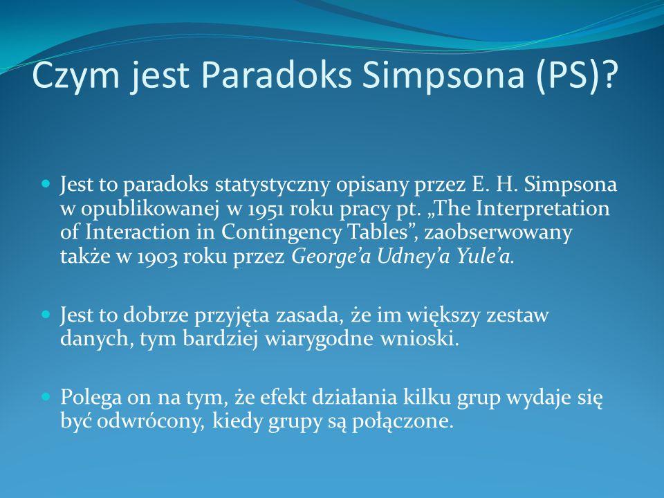 Czym jest Paradoks Simpsona (PS)