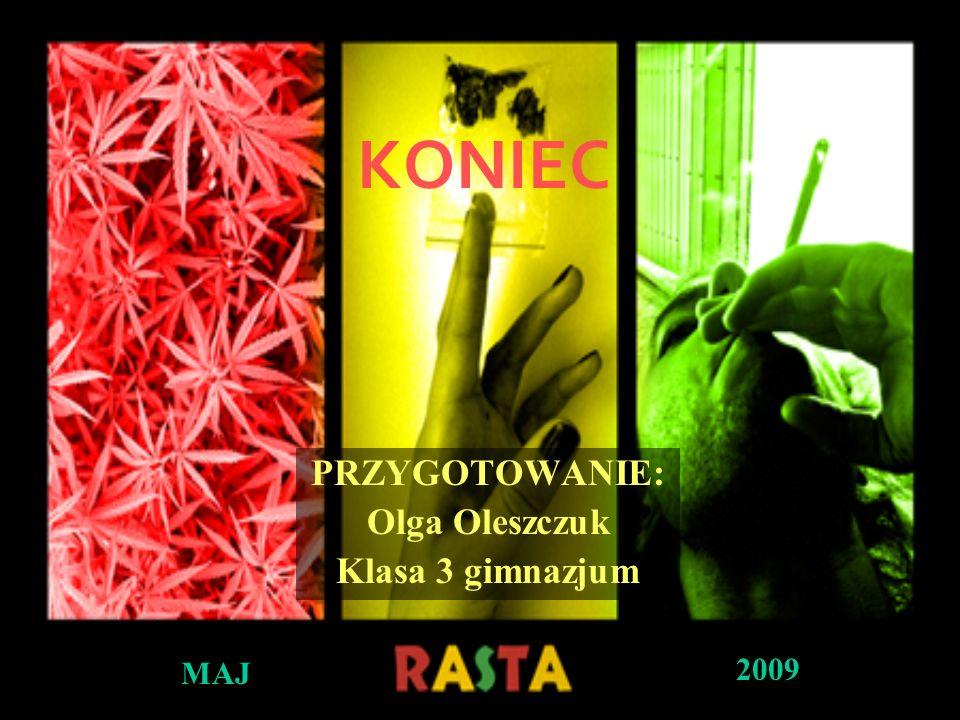 KONIEC PRZYGOTOWANIE: Olga Oleszczuk Klasa 3 gimnazjum MAJ 2009