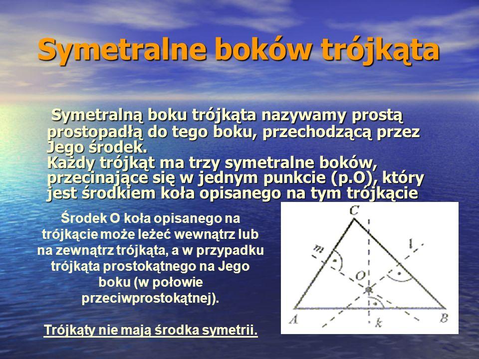 Symetralne boków trójkąta