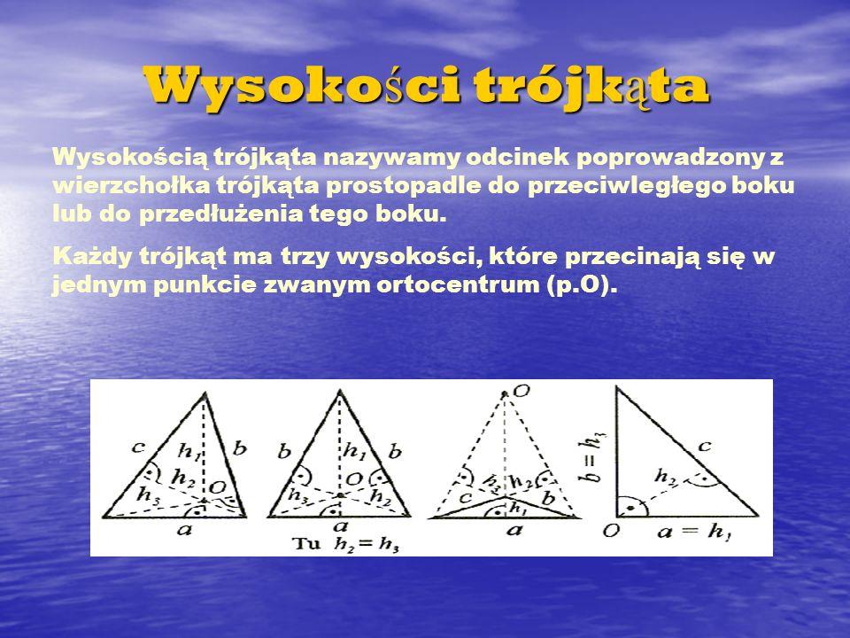 Wysokości trójkąta