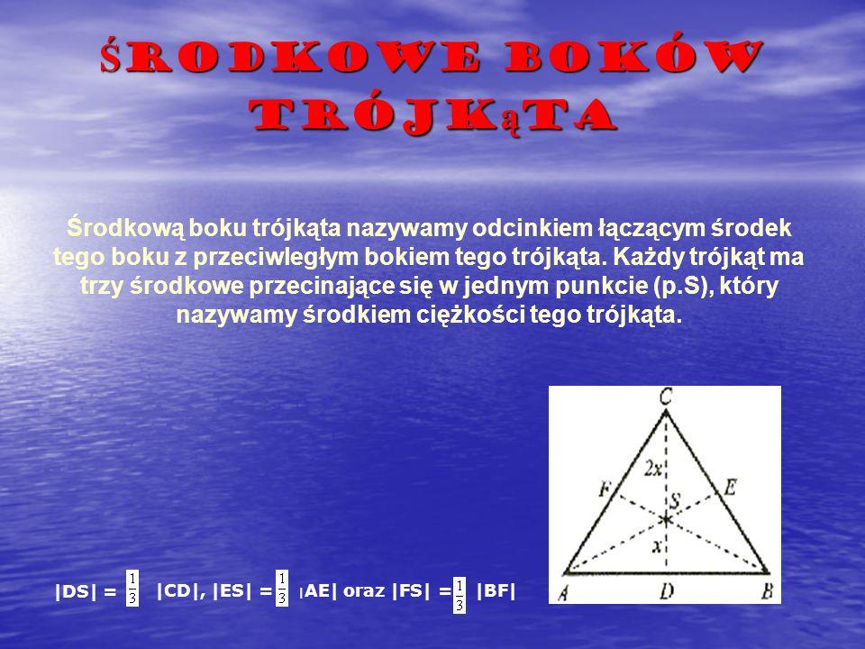 Środkowe boków trójkąta