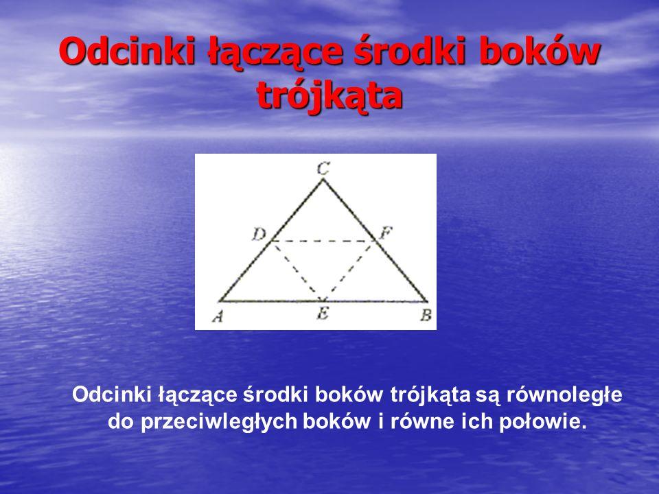 Odcinki łączące środki boków trójkąta