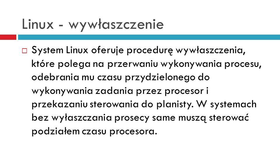 Linux - wywłaszczenie