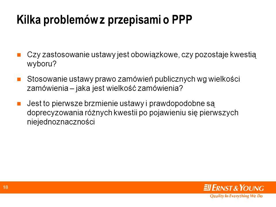 Kilka problemów z przepisami o PPP